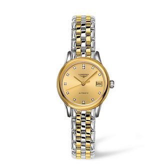 Longines Flagship Ladies' Diamond Two Colour Bracelet Watch - Product number 1607839