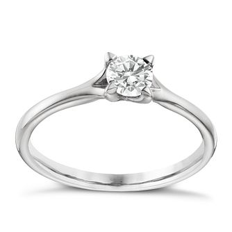 Platinum 1/3ct diamond solitaire 4 claw ring - Product number 1641174