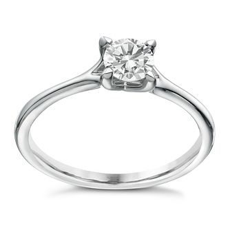 Platinum 1/2ct Diamond Solitaire 4 Claw Ring - Product number 1641433