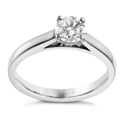 18ct white gold 2/3ct diamond solitaire 4 claw ring - Product number 1643118