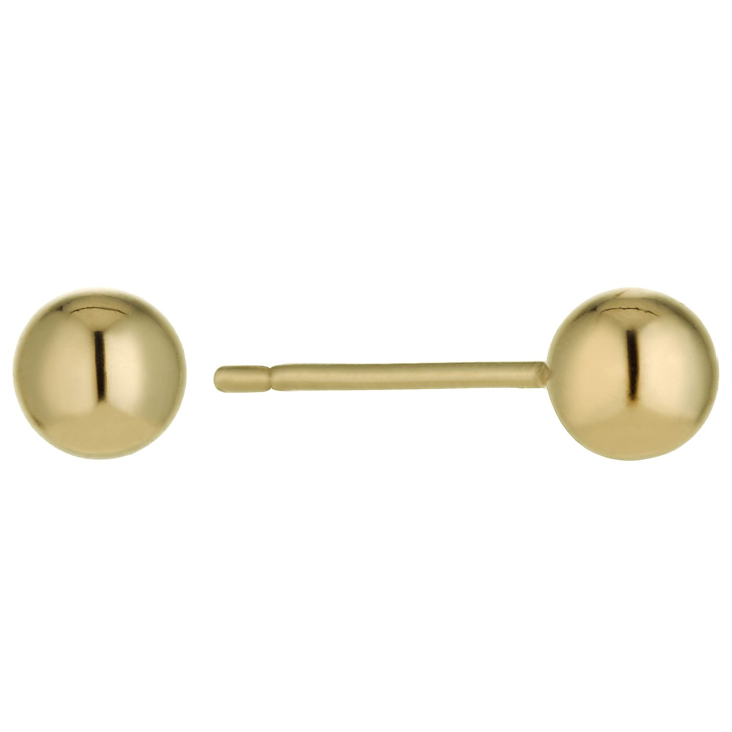 18ct Gold 4Mm Ball Stud Earrings - Product number 1654284