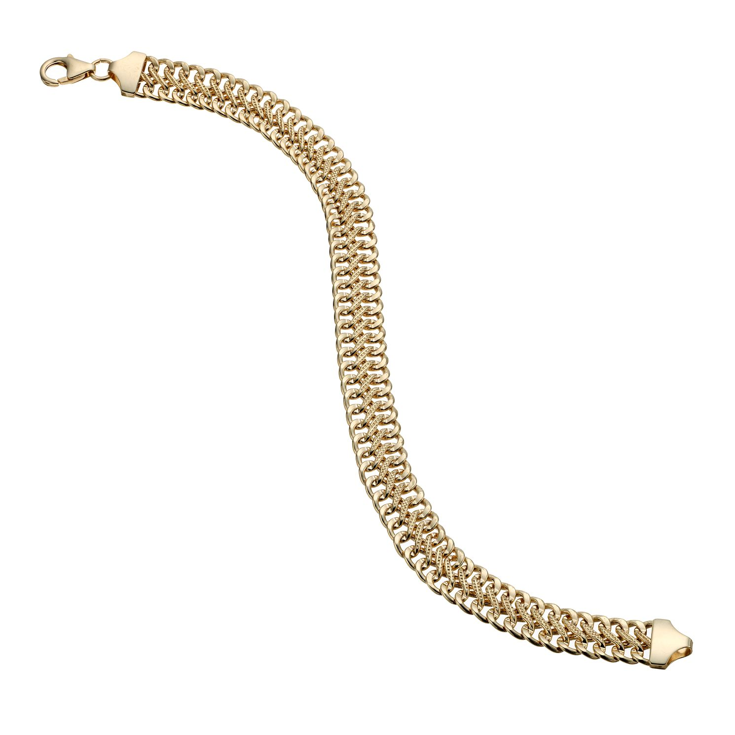 9ct Gold Diamond Cut Detail Bracelet - Product number 1654748