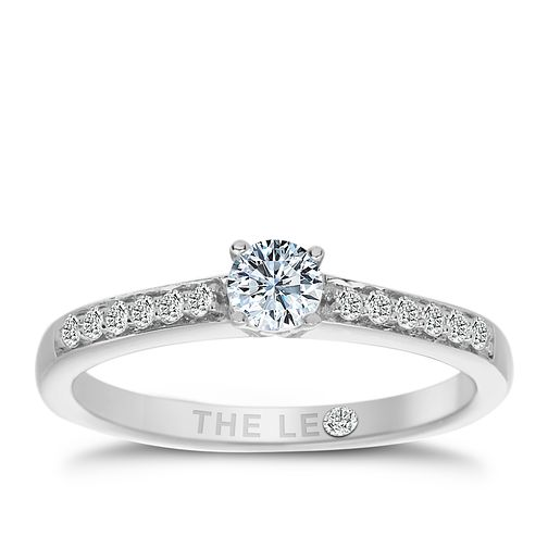 Leo Diamond 18ct white gold 1/3ct I-I1 solitaire ring - Product number 1659995