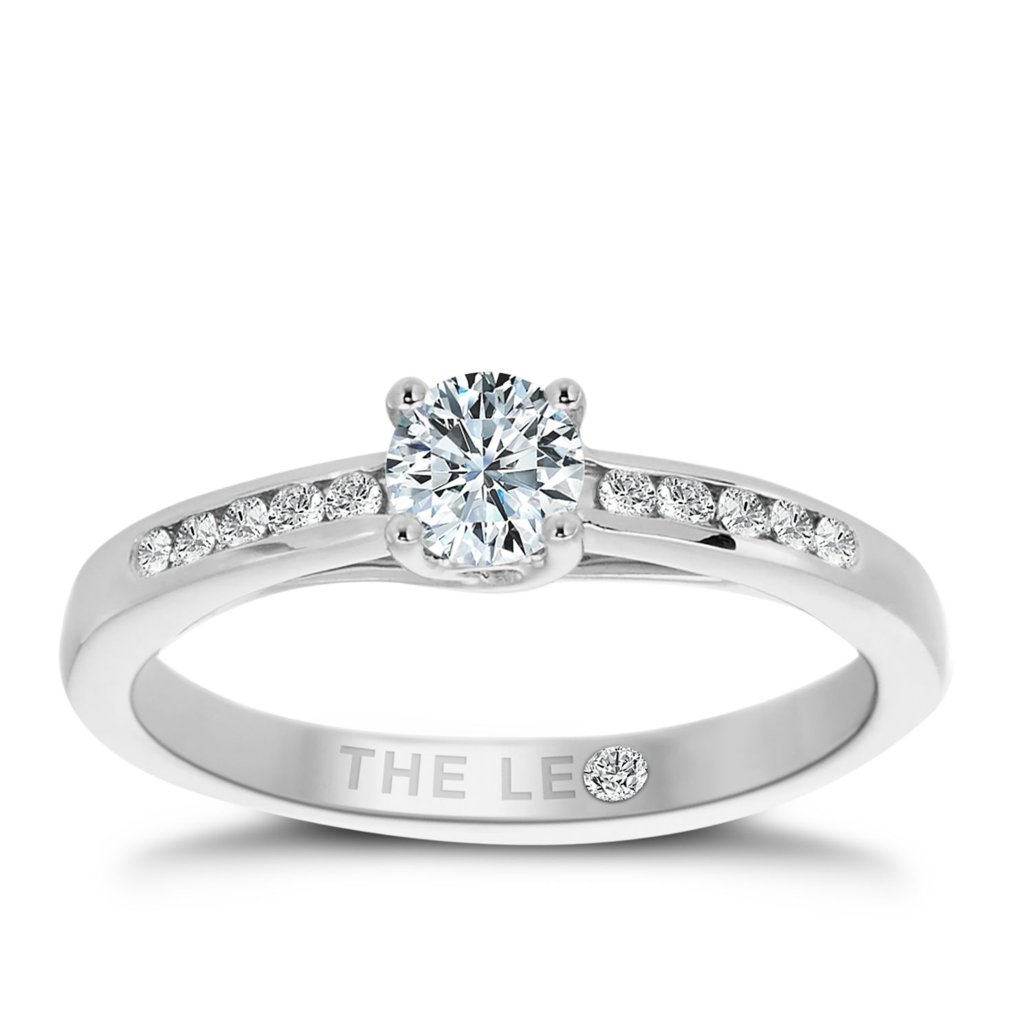 Leo Diamond 18ct White Gold 2/5ct I-I1 Solitaire Ring - Product number 1660136