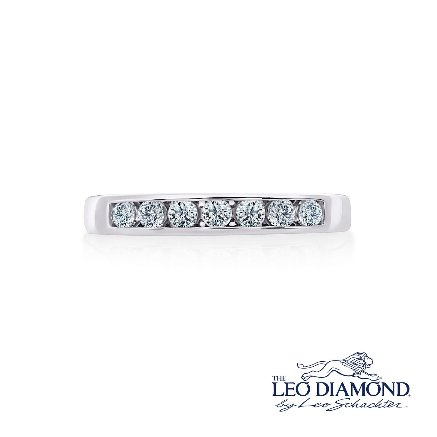 Leo Diamond 18ct White Gold 1/3ct I-I1 Eternity Ring - Product number 1660268