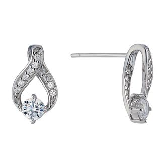 Sterling silver cubic zirconia stud earrings - Product number 1660535