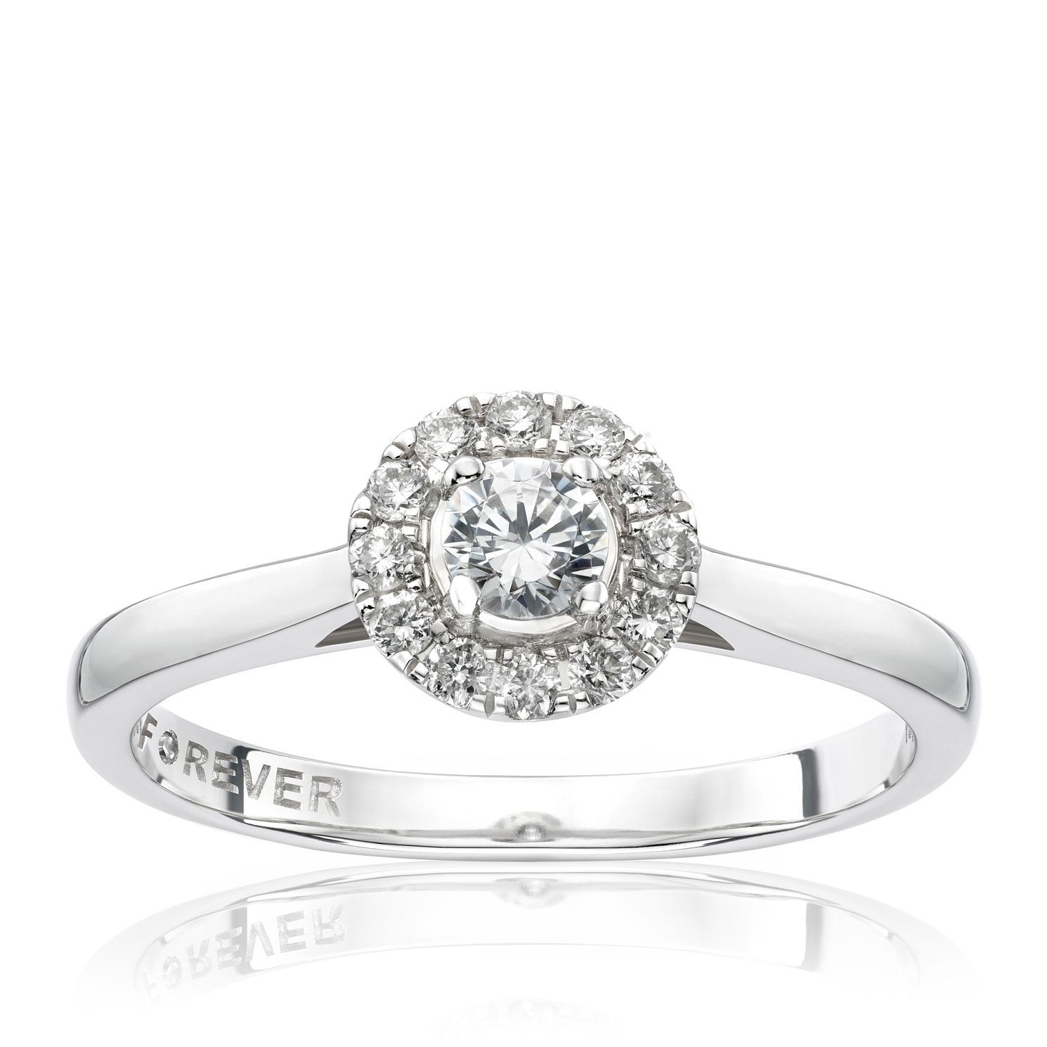 The Forever Diamond 18ct White Gold 0.25ct Total Ring - Product number 1682105