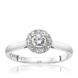 18ct White Gold 1/4 Carat Forever Diamond Ring - Product number 1682105