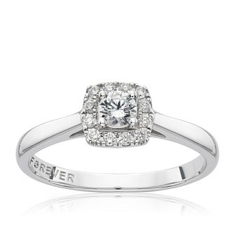 The Forever Diamond 18ct White Gold 0.25ct Total Ring - Product number 1682253