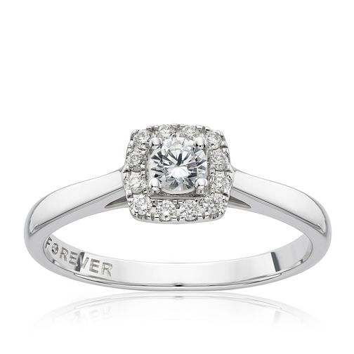 18ct White Gold 1/4 Carat Forever Diamond Ring - Product number 1682253