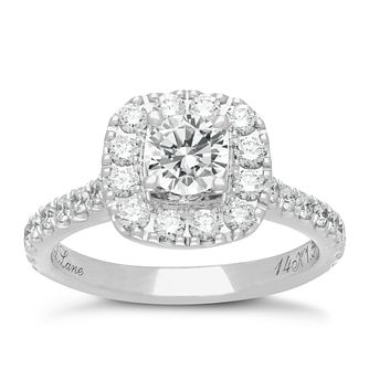 Neil Lane 14ct white gold 1.50ct diamond halo ring - Product number 1692232