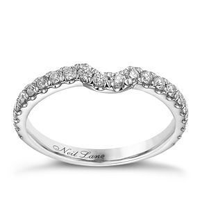 Neil Lane 14ct white gold 0.42ct diamond set shaped band - Product number 1692496