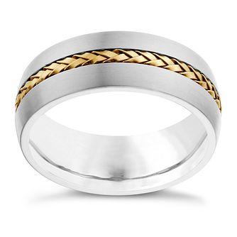 69bc34b3cc4 Titanium   Gold Tone Detail Ring - Product number 1702939