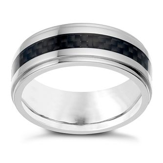 Titanium Carbon Fibre Detail Ring - Product number 1730398