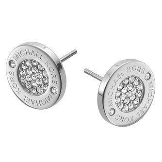 Michael Kors Stainless Steel Stone Set Round Stud Earrings - Product number 1736116