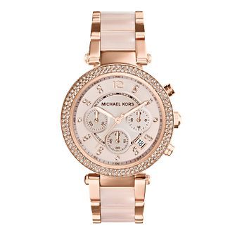 Michael Kors Ladies' Rose Gold Tone Bracelet Watch - Product number 1736442
