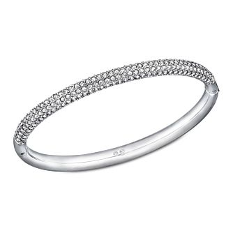 Swarovski stainless steel crystal set mini medium bangle - Product number 1738658