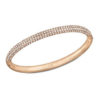 Swarovski Rose Gold-Plated Crystal Set Mini Medium Bangle - Product number 1738674