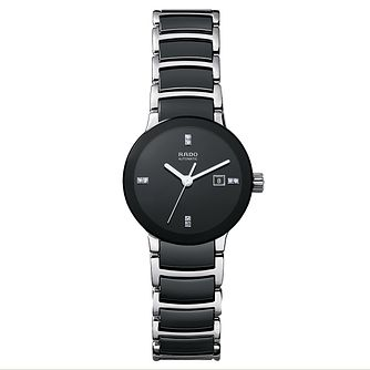 Rado Centrix Ladies' Black Ceramic Bracelet Watch - Product number 1742442