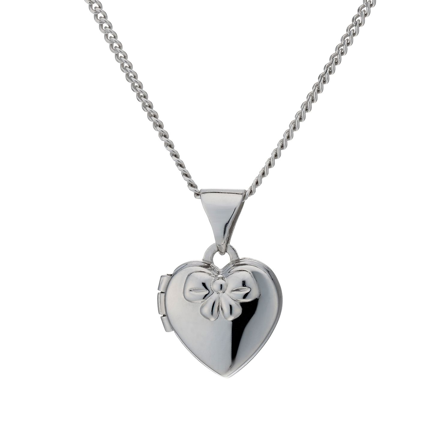Sterling Silver Children's Heart & Bow 14
