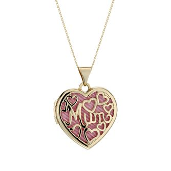 9ct Gold Filigree 'Mum' Heart 18 inches Locket - Product number 1750240
