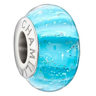 Chamilia silver 'Natural Elements Bluefin' Murano glass bead - Product number 1751050