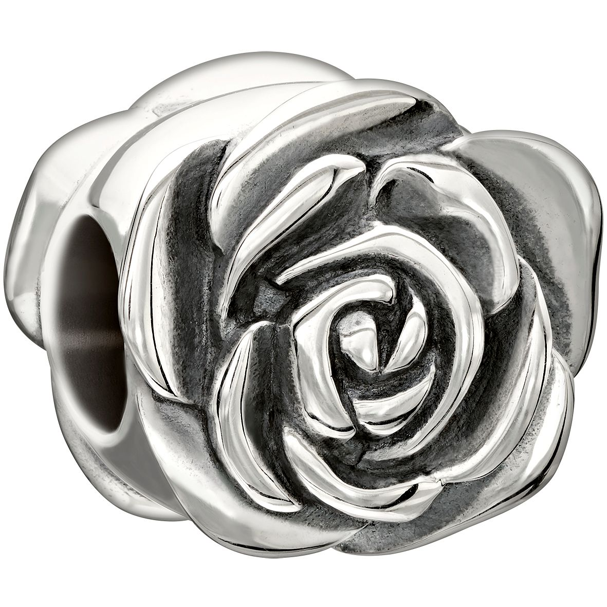 Chamilia Sterling Silver Qxgarden Club June Rose' Bead - Product number 1751093