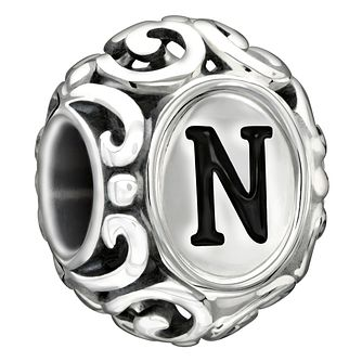 Chamilia Sterling Silver Letter N Bead - Product number 1751344