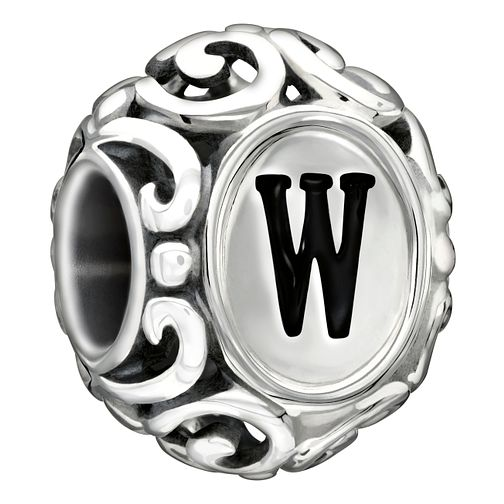 Chamilia sterling silver letter W bead - Product number 1751441