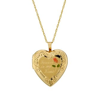 Together Silver & 9ct Bonded Gold 18 inches Heart Locket - Product number 1751565