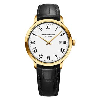 Raymond Weil Toccata Men's Black Leather Strap Watch - Product number 1753789