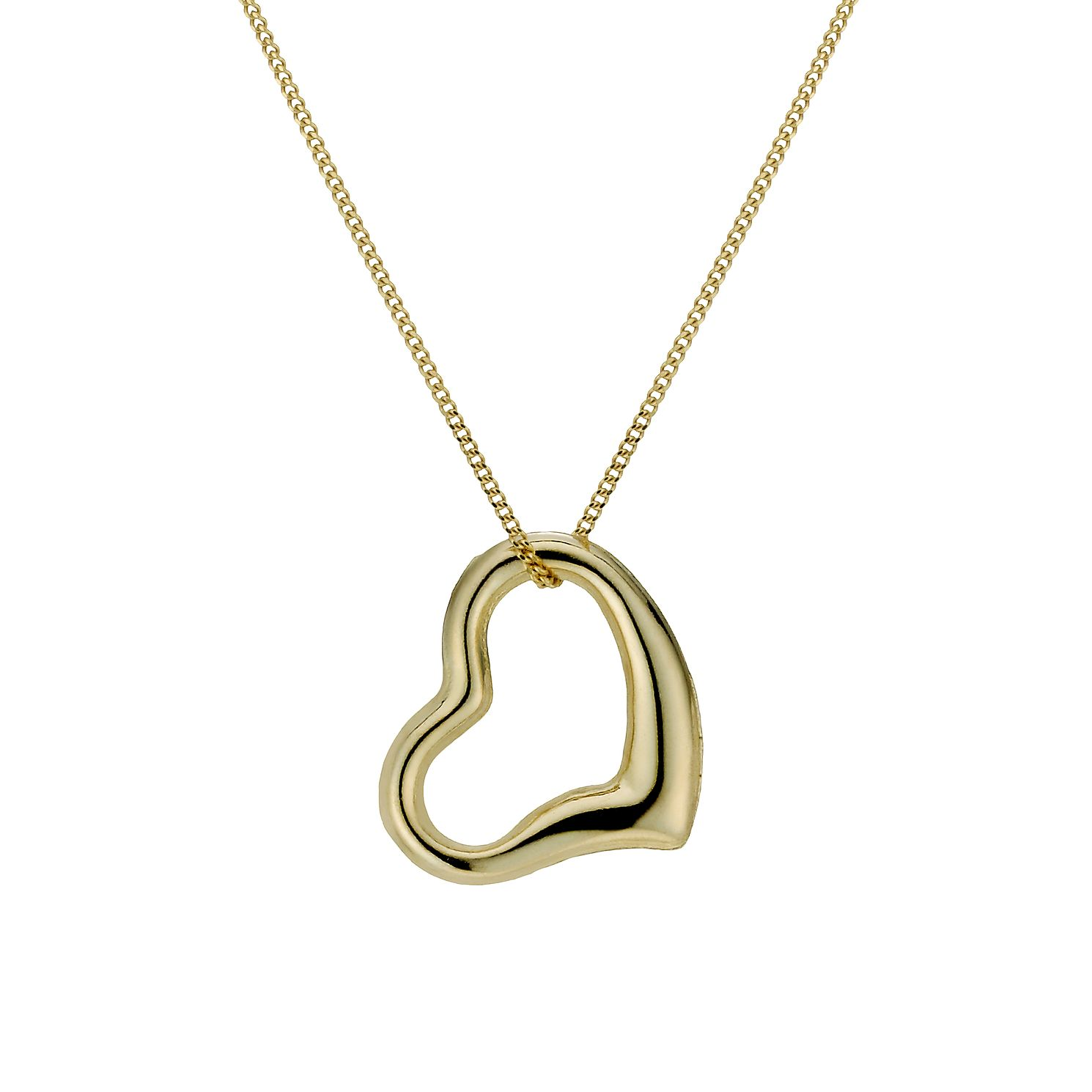 9ct Gold Swinging Heart 18