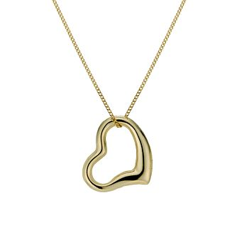 9ct Gold Swinging Heart 18 inches Pendant - Product number 1754831