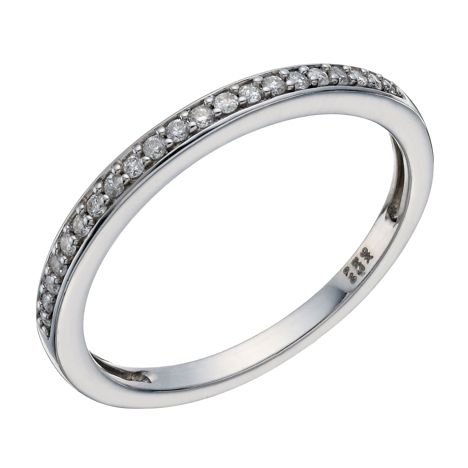 Perfect Fit 9ct White Gold Diamond Single Row Eternity Band - Product number 1761633
