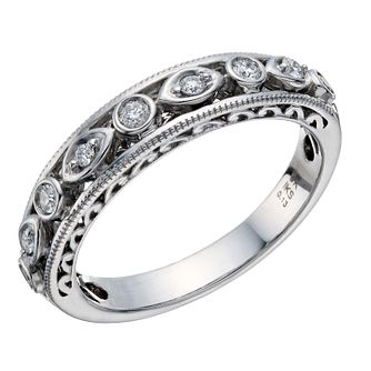 Perfect Fit 9ct White Gold Diamond Celtic Eternity Ring - Product number 1762141