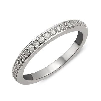 9ct White Gold Diamond Perfect Fit Eternity Ring - Product number 1762281