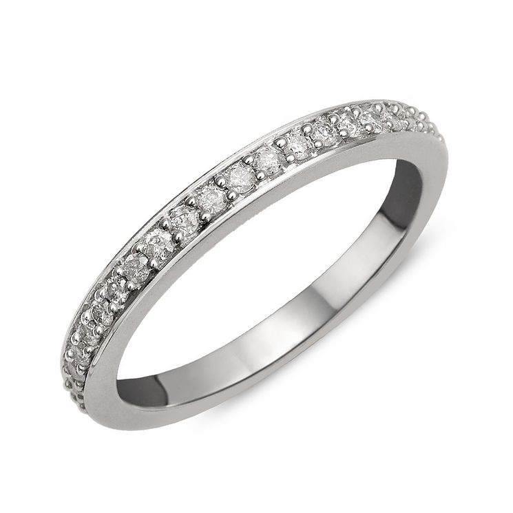 9ct White Gold Diamond Perfect Fit Eternity Ring