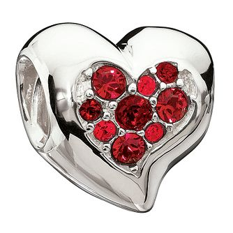 Chamilia Sterling Silver Red Inner Sparkle Heart Charm - Product number 1765469