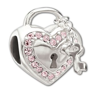 Chamilia Sterling Silver Pink Crystal Love Bead - Product number 1766082
