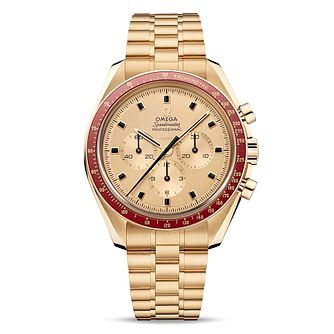 Omega Speedmaster Moonwatch 18ct Yellow Gold Bracelet Watch - Product number 1769383