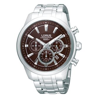 Lorus Men's Chronograph Stainless Steel Bracelet Watch - Product number 1769413