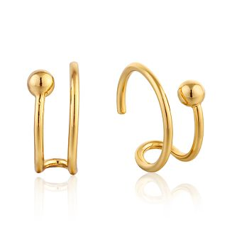 Ania Haie 14ct Yellow Gold Plated Orbit Twist Stud Earrings - Product number 1769472
