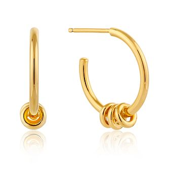 Ania Haie 14ct Yellow Gold Plated Modern 3/4 Hoop Earrings - Product number 1769693
