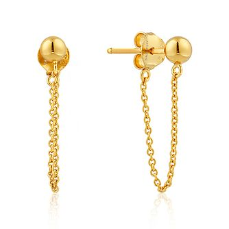 Ania Haie 14ct Yellow Gold Plated Modern Chain Stud Earrings - Product number 1769707