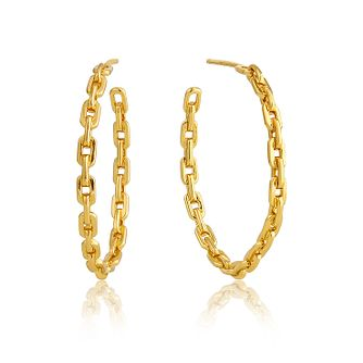 Ania Haie 14ct Yellow Gold Plated Chain Hoop Earrings - Product number 1769758