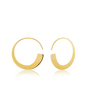 ee128274a85f8 Ania Haie 14ct Yellow Gold Plated Geometric Hook Earrings