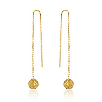 Ania Haie 14ct Yellow Gold Plated Deus Threader Earrings - Product number 1769782
