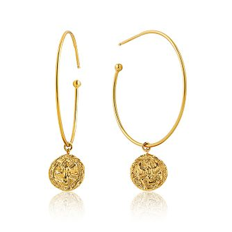 Ania Haie 14ct Yellow Gold Plated Boreas Hoop Earrings - Product number 1769804