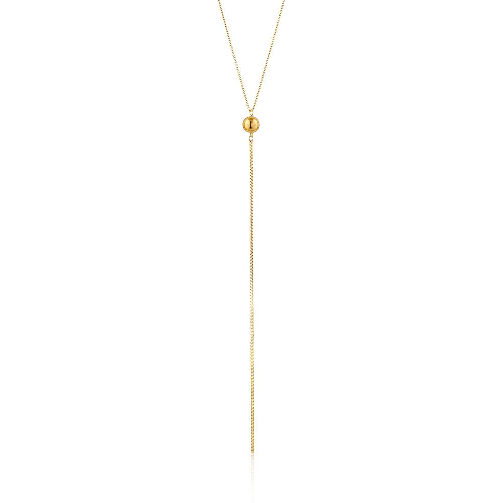 Ania Haie 14ct Yellow Gold Plated Orbit Y Necklace - Product number 1769979
