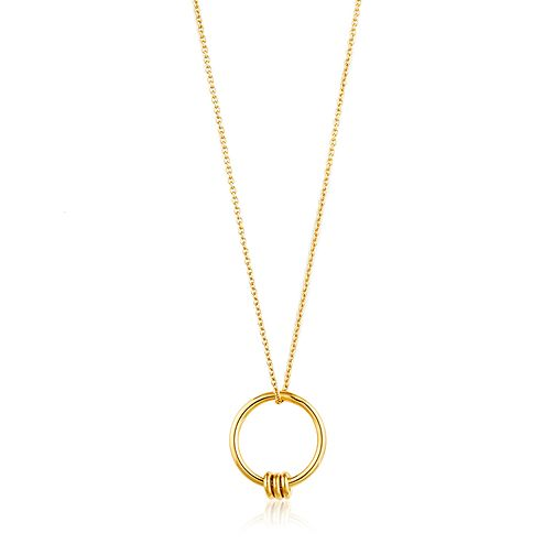 Ania Haie 14ct Yellow Gold Plated Modern Circle Necklace - Product number 1769995